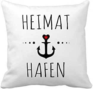 """Kuschelkissen mit Spruch """"Heimathafen"""""""