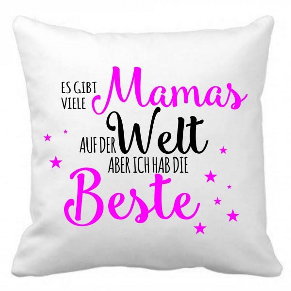 """Kuschelkissen mit Spruch """"Beste Mama"""""""