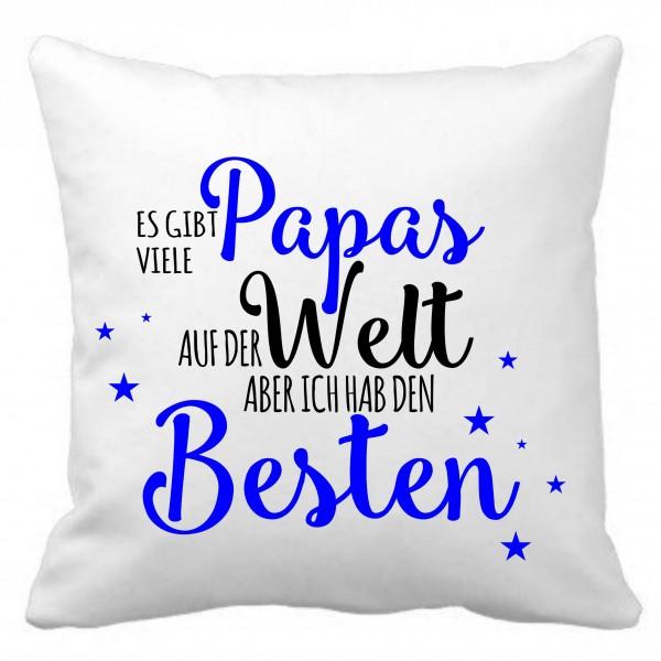"""Kuschelkissen mit Spruch """"Bester Papa"""""""