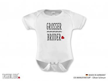"""Grosser Bruder"" Baby Strampler kurz"