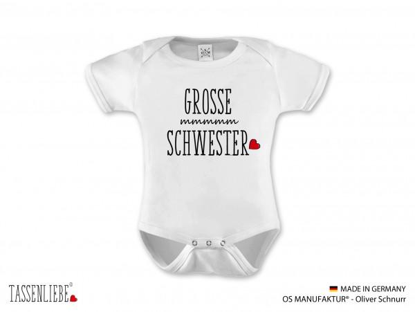 """""""Grosse Schwester"""" Baby Strampler - kurz"""