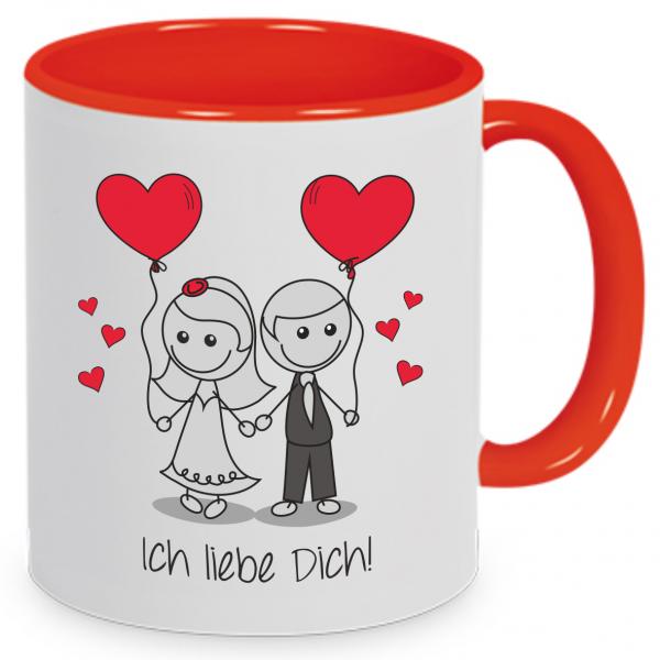 """Tasse """"Liebespaar - Ich liebe Dich!"""""""