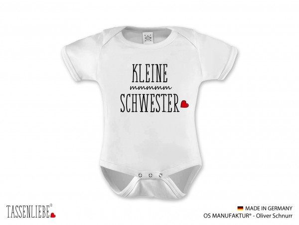 """""""Kleine Schwester"""" Baby Strampler kurz"""