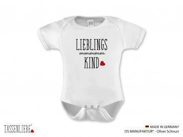 """""""Lieblings Kind"""" Baby Strampler kurz"""