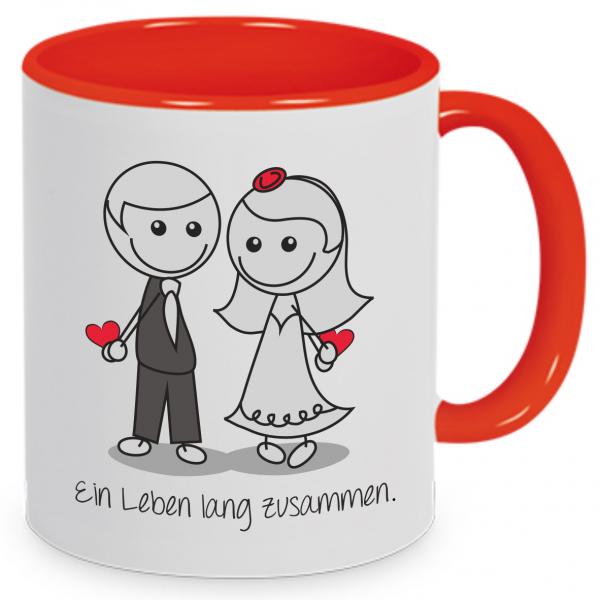 """Tasse """"Liebespaar - Ein Leben lang zusammen."""""""