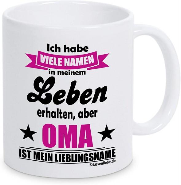 """Tasse mit Spruch """"Oma ist mein Lieblingsname"""""""
