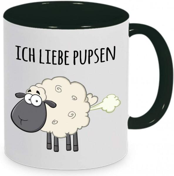 """Tasse mit Spruch """"Ich liebe Pupsen"""""""