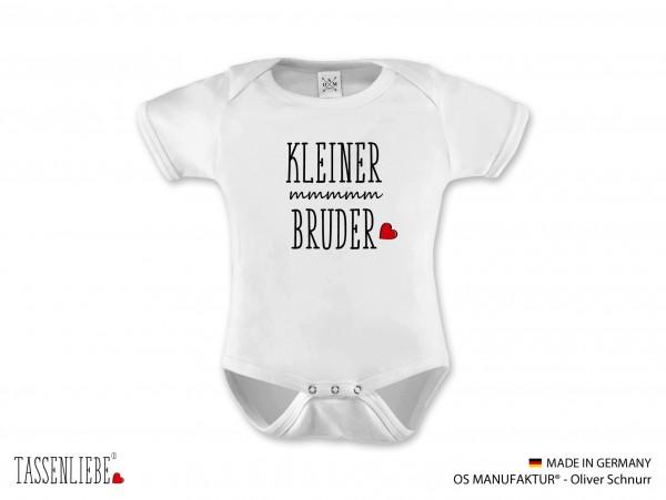 """""""Kleiner Bruder"""" Baby Strampler kurz"""