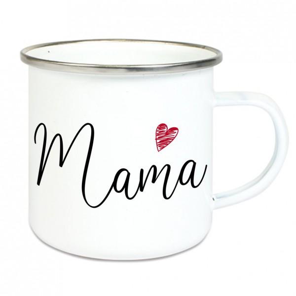 """Emaille Tasse mit Spruch """"Mama"""""""