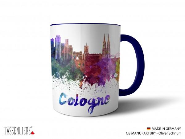 """Tasse """"Cologne"""" im Watercolor-Design"""
