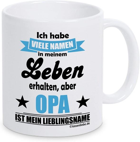 """Tasse mit Spruch """"Opa ist mein Lieblingsname"""""""