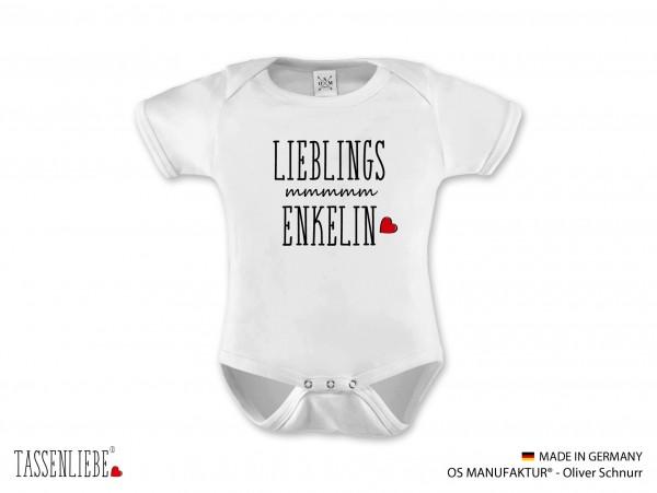 """""""Lieblings Enkelin"""" Baby Strampler kurz"""