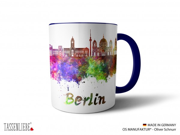 "Tasse ""Berlin"" im Watercolor-Design"