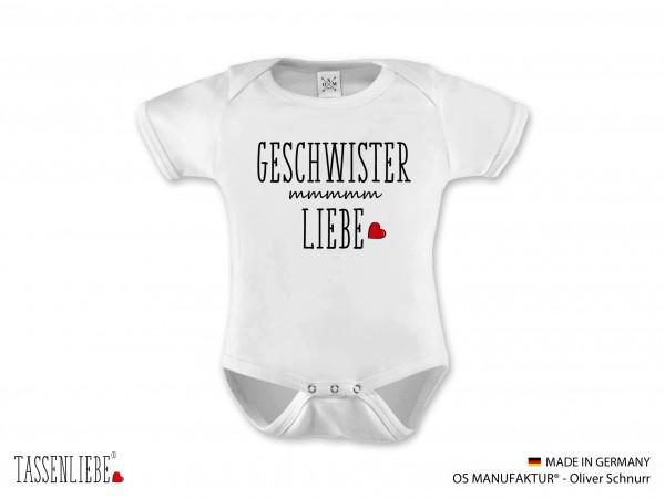 """""""Geschwisterliebe"""" Baby Strampler kurz"""