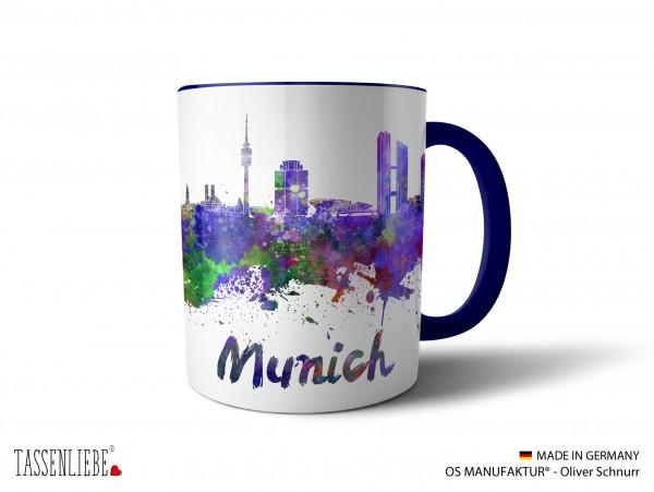 "Tasse ""München"" im Watercolor-Design"