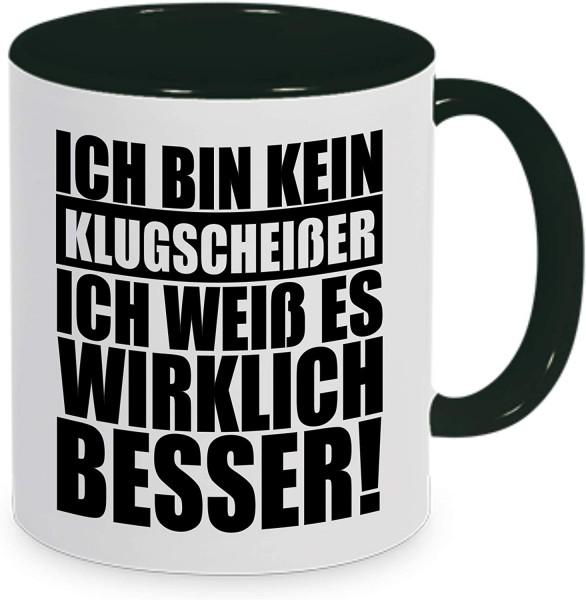 """Tasse mit Spruch """"Klugscheisser"""""""
